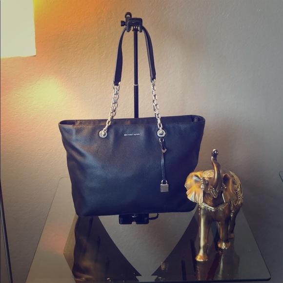 f55143d9757d1d MICHAEL Michael Kors Bags | Mk Mercer Medium Chainlink Leather Tote ...